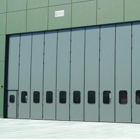 Складывающиеся ворота Ryterna SLICK 10000x6000 мм RAL 9006/RAL 7016