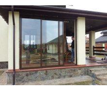 Скління терас алюмінієвими світлопрозорими конструкціями