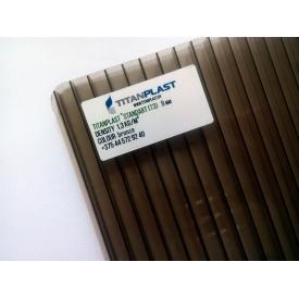 Полікарбонат стільниковий TitanPlast Т3 8 мм 2,1х6 м бронза