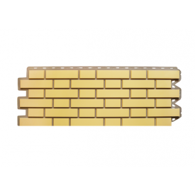 Фасадная панель Альта-Профиль Клинкерный кирпич 1220х440х20 мм Желтый