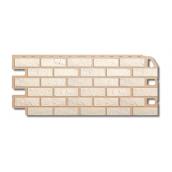 Фасадна панель Альта-Профіль Цегла 1130х470х20 мм Білий