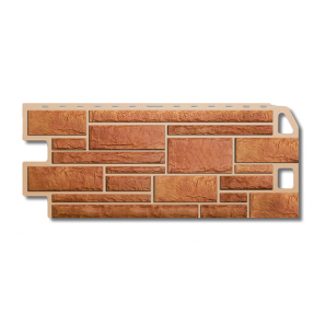 Фасадна панель Альта-Профіль Камінь 1130х470х20 мм Бежевий