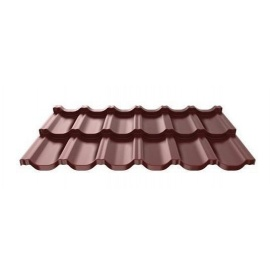 Металлочерепица Ruukki Finnera модульная 685х1190х0,5 мм шоколадный