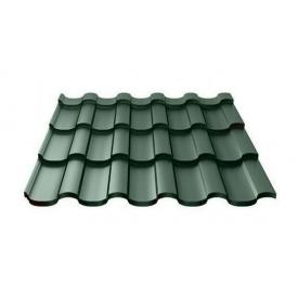 Металочерепиця Ruukki Adamante Purex 0,5 мм темно-зелений
