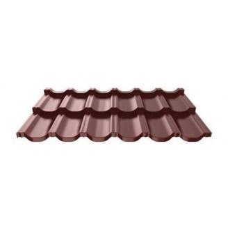 Металлочерепица Ruukki Finnera Purex модульная 705х1190х0,5 мм шоколадный