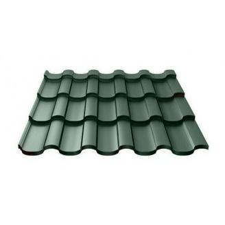 Металлочерепица Ruukki Adamante Purex 0,5 мм темно-зеленый