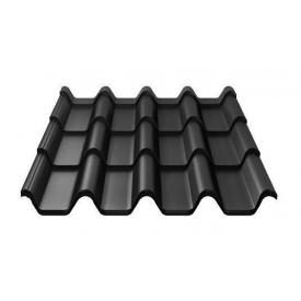 Металочерепиця Ruukki Armorium Pural Matt 0,5 мм чорний
