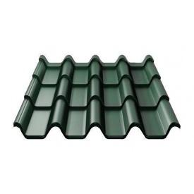 Металлочерепица Ruukki Armorium Purex/Crown BT 0,5 мм темно-зеленый