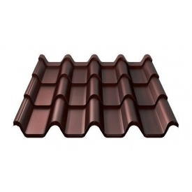 Металочерепиця Ruukki Armorium Purex/Crown BT 0,5 мм шоколадний