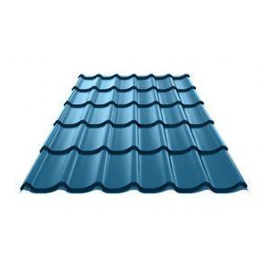 Металлочерепица Ruukki Monterrey Polyester 0,5 мм синий