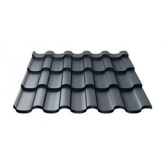 Металлочерепица Ruukki Adamante Polyester Matt 0,5 мм темно-серый