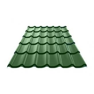 Металлочерепица Ruukki Monterrey Polyestеr 0,5 мм зеленый