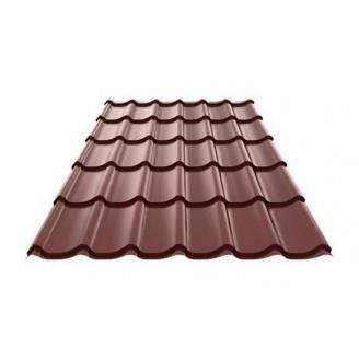 Металлочерепица Ruukki Monterrey Pural Matt 0,5 мм шоколадный