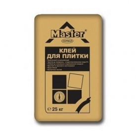 Економічна клеюча суміш Master Normal для керамічної плитки 25 кг