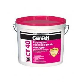 Краска акриловая структурная Ceresit CT-40 10 л
