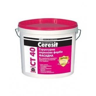 Фарба акрилова структурна Ceresit CT-40 10 л
