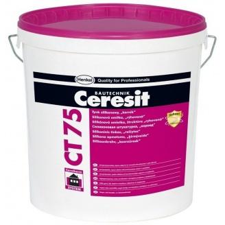 Штукатурка силиконовая Ceresit СТ-75 База короед 3 мм 25 кг