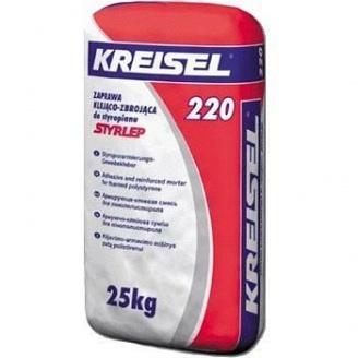 Клей для приклеивания пенополистирола Kreisel 220 25 кг