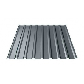 Профнастил Ruukki Т20 Polyester 17,5 мм темно-серый