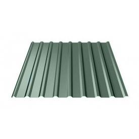 Профнастил Ruukki Т20 Polyester matt 17,5 мм темно-зеленый