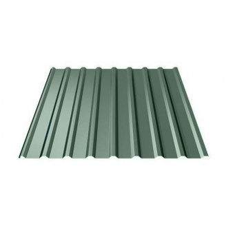 Профнастил Ruukki Т20 Polyester 17 мм темно-зеленый