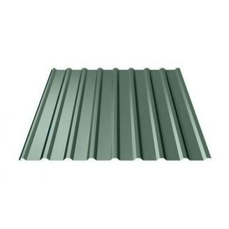 Профнастил Ruukki Т20 Polyester matt 17 мм темно-зеленый
