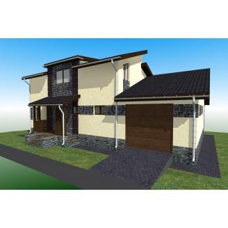 Будівництво каркасного будинку ТК_Кармеліта 210х100х36 м2