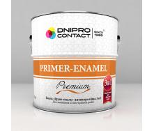 Емаль Дніпро-Контакт Грунт-емаль 3 в 1 2,8 кг сіра