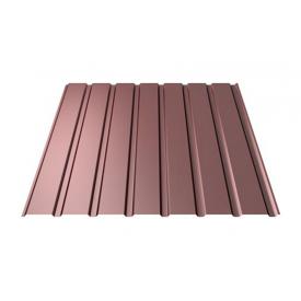 Профнастил Ruukki Т15-115 Polyester фасадный 13,5 мм шоколадный