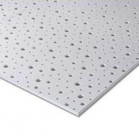 Гіпсокартон Knauf Cleaneo Akustik PLUS 8/15/20R 4SK 12,5х1200х2500 мм білий