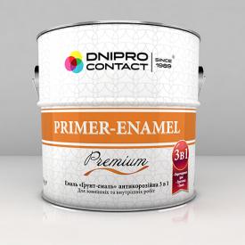 Эмаль Днепр-Контакт Грунт-эмаль 3 в 1 2,8 кг красно-коричневая