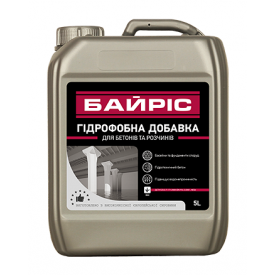 Гидрофобная добавка Байрис для бетонов и растворов 5 л
