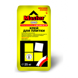 Клейова суміш Master Normal для керамічної плитки цементно-піщана 25 кг