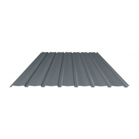 Профнастил Ruukki Т15-115V Polyester matt фасадный 13,5 мм темно-серый