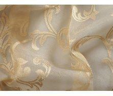 Гардинная ткань с рисунком 3 м золотистая