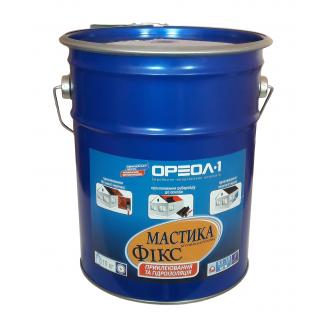 Мастика битумно-каучуковая Ореол-1 Фикс клеящая 10 кг