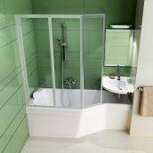 Ванна акриловая RAVAK BeHappy асимметричная 160х75 см левая