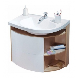 Шкафчик под умывальник RAVAK Rosa SDU Comfort L 780х550х680 мм белый/белый