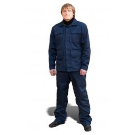 Костюм рабочий модельный ТК-Спецодяг мастер саржа синий