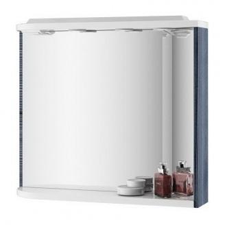Зеркало RAVAK Praktik M 780 R 780х160х680 мм StripOnyx/белый