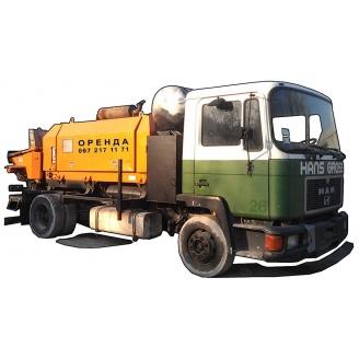 Аренда мобильного бетононасоса 60-70 м3/час 140-160 м трассы