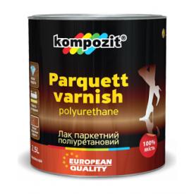 Лак паркетный полиуретановый Kompozit 2,5 л глянцевый