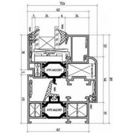 Теплая алюминиевая оконная система Alutech W62
