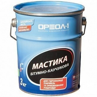 Мастика битумно-каучуковая Ореол-1 3 кг