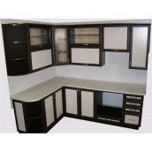 Кухня Фанплит черно-белая