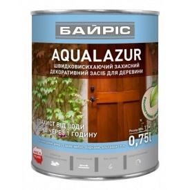 Лазурь Байрис AQUALASUR для древесины 0,75 л коричневая