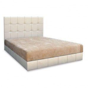 Кровать Вика Магнолия 160 с матрасом матрасная ткань 162х210х112 см