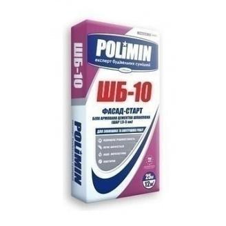 Шпаклевка Polimin Фасад-старт ШБ-10 25 кг белый
