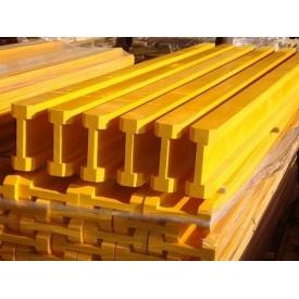 Балка двотаврова для опалубки Н-20 сосна 8х4х20 см жовта