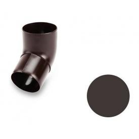 Коліно 67 градусів Galeco PVC 90/50 50 мм темно-коричневий